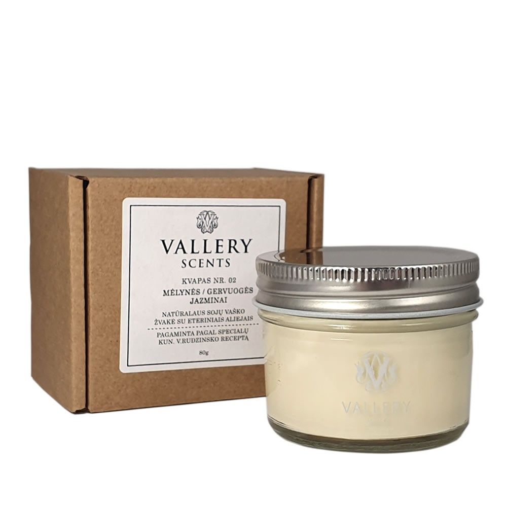 Meilė maža kvapi žvakė Vallery Scents su dėžute