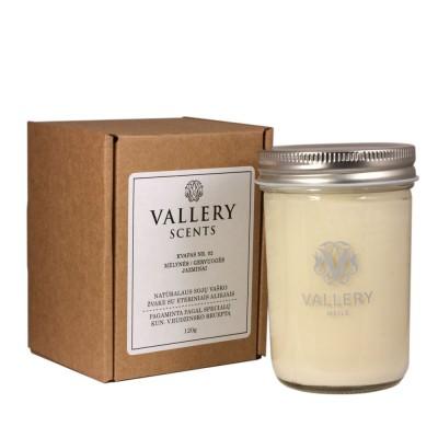 Meilė didelė kvapi žvakė su dėžute Vallery Scents