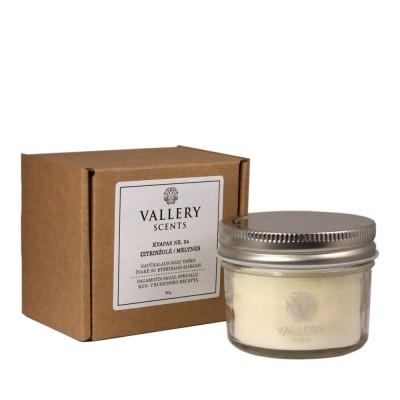Šventė maža kvapi žvakė Vallery Scents su dėžute