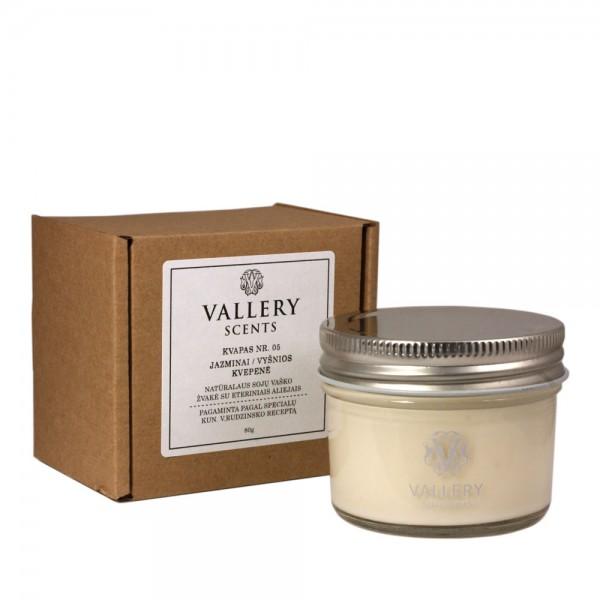Džiaugsmas maža kvapi žvakė Vallery Scents su dėžute