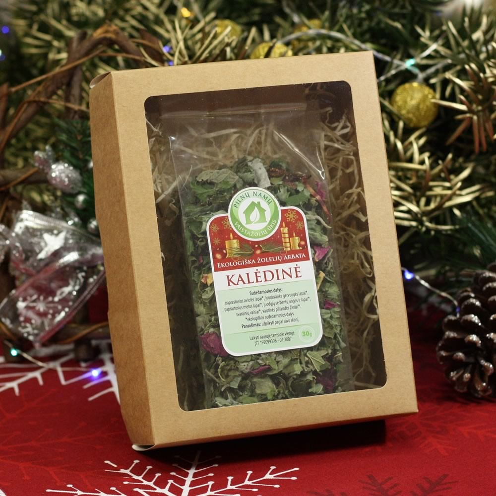 CHRISTMAS herbal tea in transparent bag with box