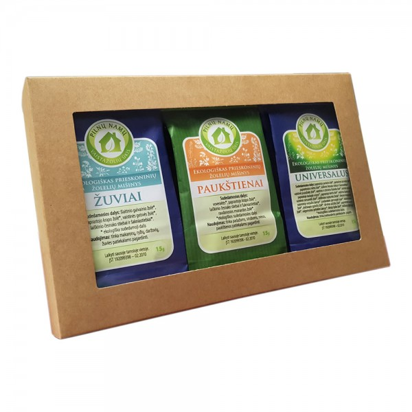 Christmas gift compile with herbal spices