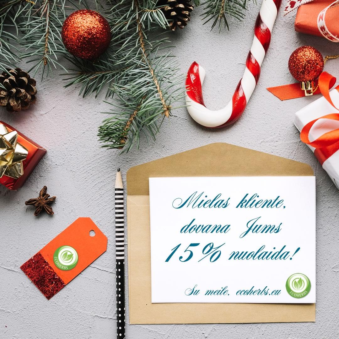 Kalėdinės nuolaidos akcija